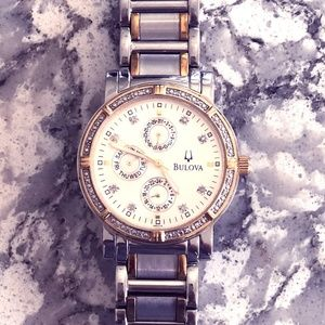 Mens Bulova Diamond Accented Watch